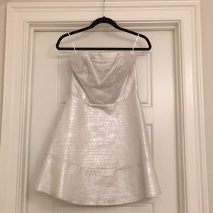 Silver foil Semi-formal dress